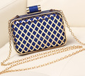 FASHION TENDER 2015 new chain Metal Quilted women clutch Bridal package shoulder Bag women messenger party evening bag