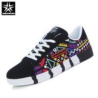 URBANFIND Men Fashion Shoes Man Sneaker Size 39 44 Boy Casual Print Shoes Men Canvas Breathable