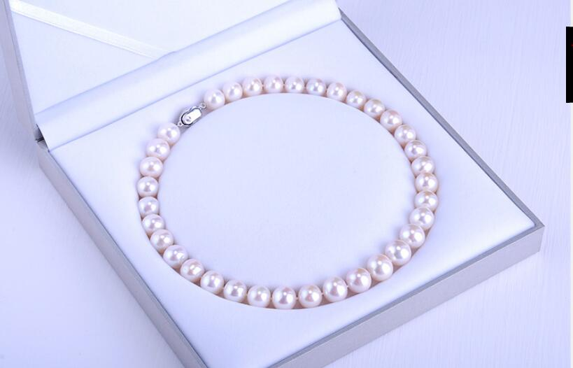 women gift word Jewelry Silver Clasp 17INCH AAAA 10-11mm Natural south sea genuine WHITE round pearl necklacewomen gift word Jewelry Silver Clasp 17INCH AAAA 10-11mm Natural south sea genuine WHITE round pearl necklace