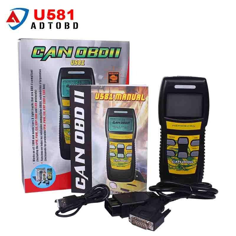Цена за Оригинал Memoscan U581 OBD2 Автомобилей Неисправности Диагностический Сканер CAN BUS Scan Tool Code Reader Диагностический Сканер Бесплатная Доставка