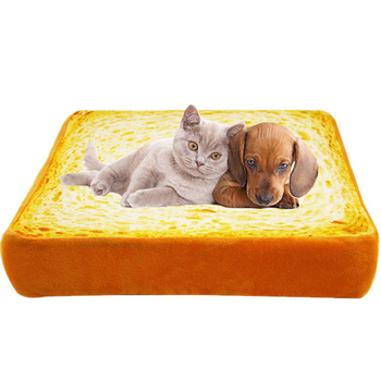 Bread Shape Pet Bedding Mat Soft Sponge Stuffed Dog Cat Bed Mattress for Small Large Dogs Washable Pet Dog Home