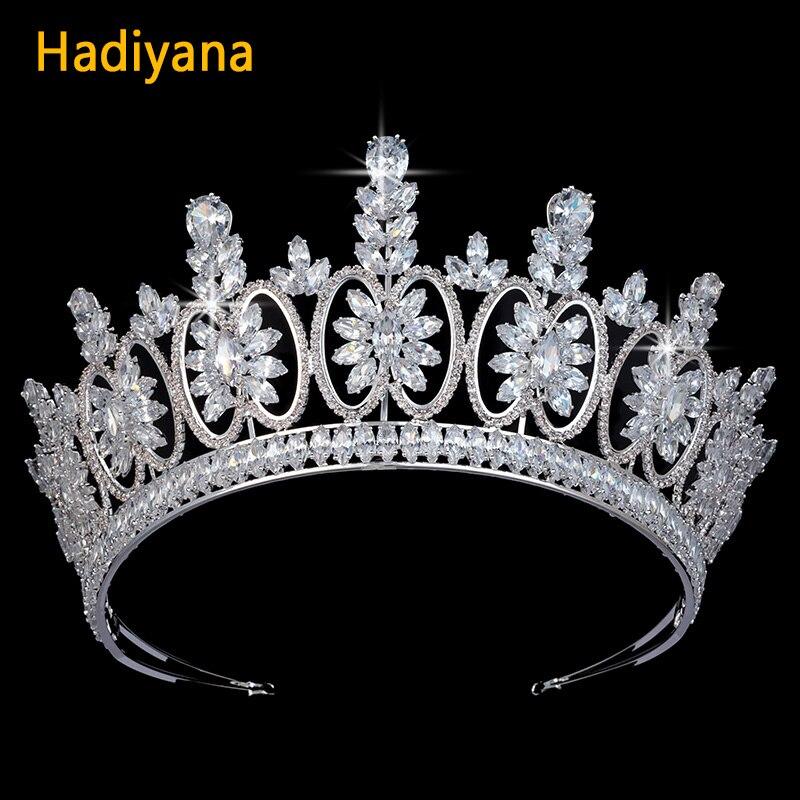 aliexpress com hadiyana wedding bridal tiaras and crowns aaa cz