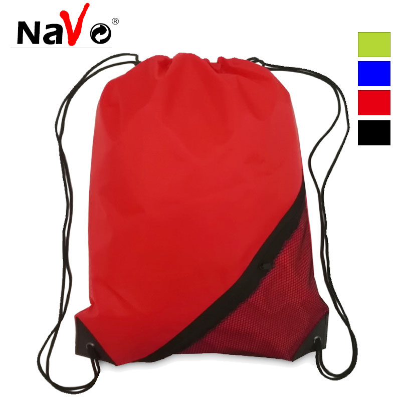 NAVO Design Women Men Drawstring Backpack with Outer Pocket Solid Color School Backpack Bookbag Sportive Pack Pouch Blosas Bag Shoe Bags