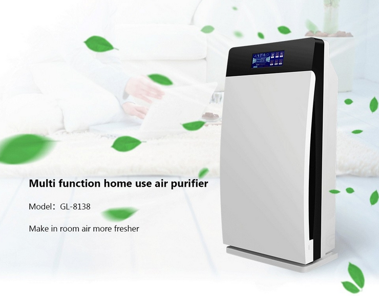 Home /Office Air Purifier Hepa, Activated, Carbon, Ozone, Negative Ion, Uv, Gl-8138 Air Freshener car air purifier purifiers negative ion fresh air ionic purifier oxygen anion uv led activated carbon usb dc5v