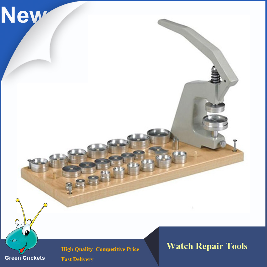 5500 A Watch Press Tools Kit 25 pcs Normal Tapered Dies Universal TableTop Watch Crystal Press