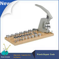 5500-A Watch Press Tools Kit,25 pcs Normal Tapered Dies Universal TableTop Watch Crystal Press Machine