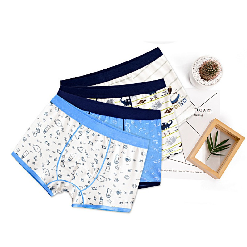 2018 2pcs/lot Fashion Boys Underwear Boxer High Quality Cotton Modal   Panties   Children Print Boxer Kids Underwear Underpants