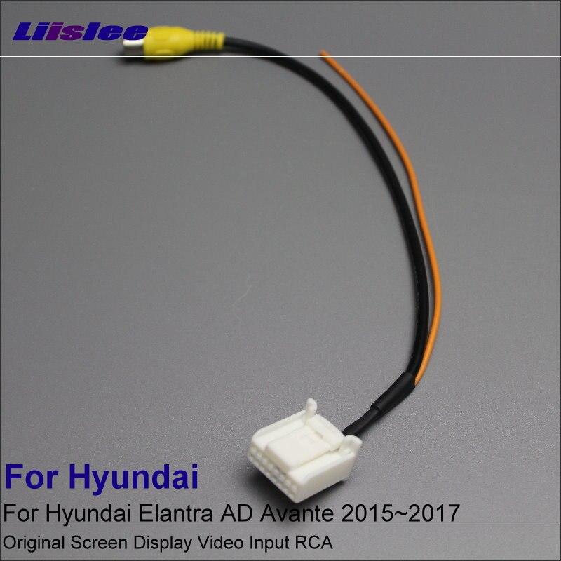 Liaslee RCA адаптер кабел за Hyundai Elantra AD Avante 2015 2016 2017 Камера за задно виждане / оригинален видеовход