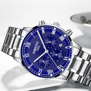 Image 3 - NIBOSI reloj deportivo para hombre, de cuarzo, resistente al agua, de negocios, de acero, Masculino