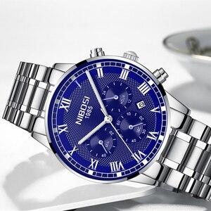 Image 3 - Relogio Masculino NIBOSI Männer Uhren Mode Sport Quarz Uhr Männer Uhr Top Marke Luxus Voller Stahl Business Wasserdichte Uhr