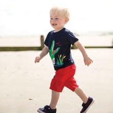 New 2019 Dinosaur Children Kids Boys Tops Tees T Shirt Summer Cotton Child Boys Short Sleeve T Shirt For 2-7T Child Garments