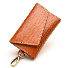 Difenise Brand The First layer Cowhide Genuine Leather Unisex key chain Wallets women and men Fashion Solid Vegetable Keychain