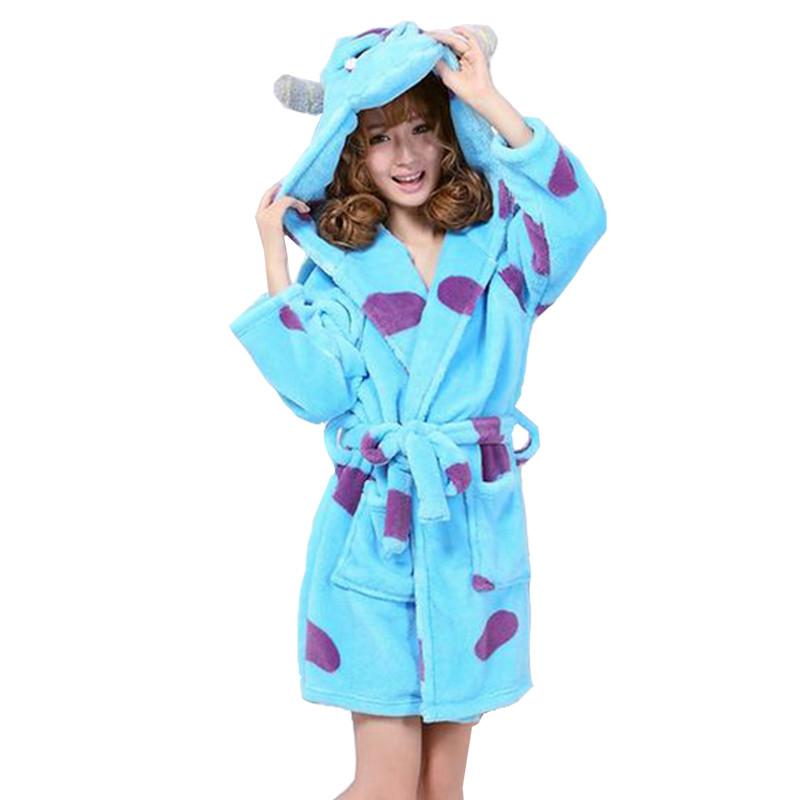New-arrival-autumn-and-winter-women-s-cartoon-fleece-soft-bathrobe-with-hood-lovely-juniros-girls (1)