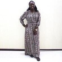 Moda Dashiki Elbise Bel Kapalı Omuz Casual Afrika Dashiki Kadın Elbise