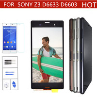 Original LCD For SONY Xperia Z3 Display Touch Screen with Frame for SONY Xperia Z3 Dual Display LCD D6633 D6603 Replacement
