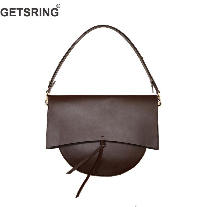 GETSRING Women Bag Shoulder Bag Women Handbag Crossbody Bags For 2018 New Genuine Leather Black Fashion