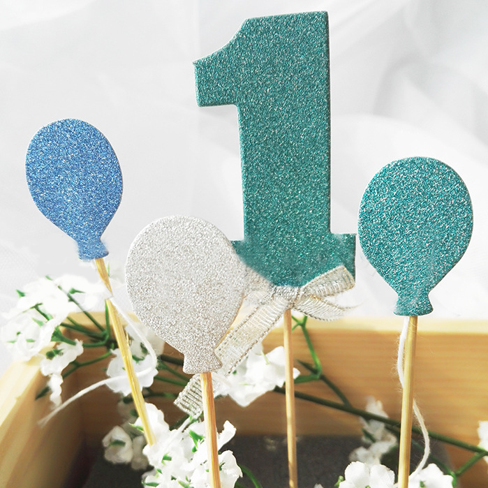 1 Set New Arrival Glitter Numbers Personalized Cake Topper Kit Wedding Number One Babyshower Birthday Cupcake Party Decorations
