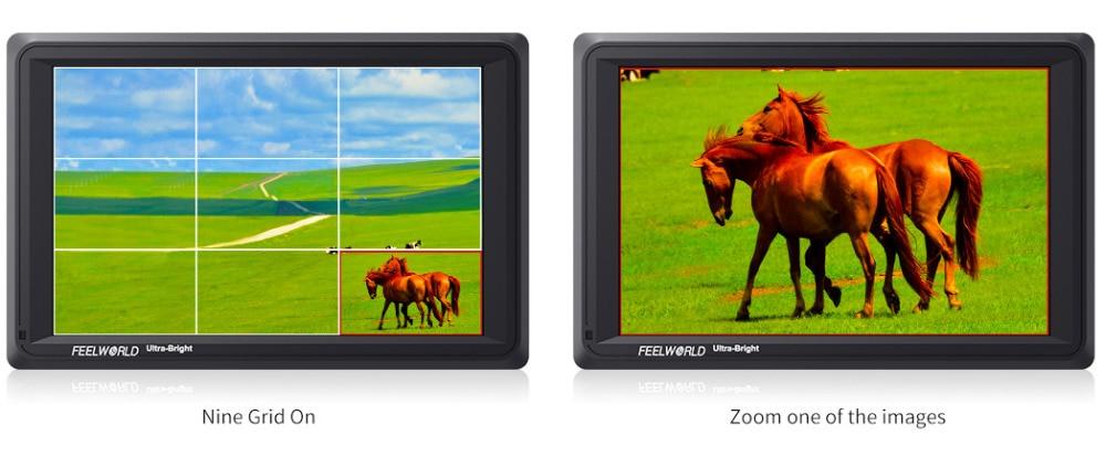 Feelworld FW279 7 Cal IPS 2200 nitów kamera Monitor zewnętrzny 4K HDMI wejście wyjście 1920X1200 Monitor LCD do DSLR stabilizator 8