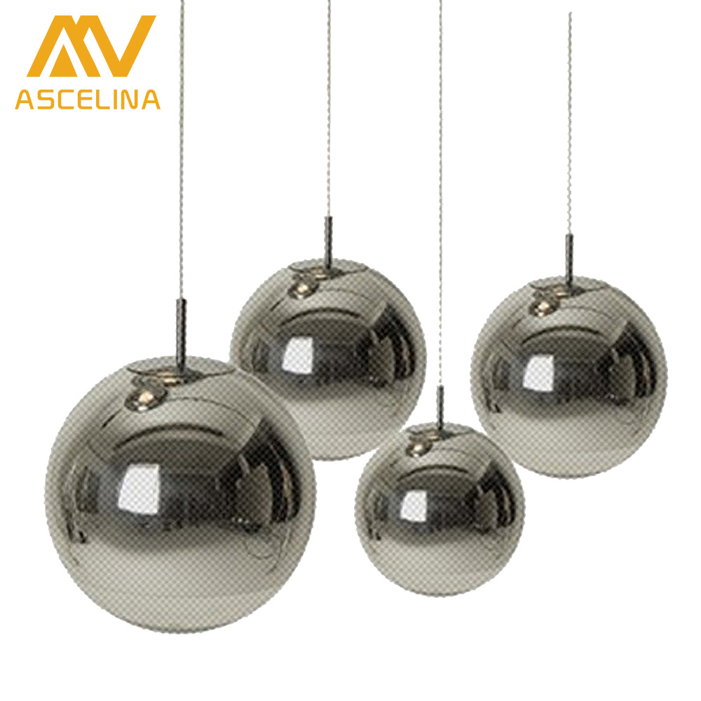Modern simple glass ball pendant light restaurant kitchen for Modern hanging pendant lights