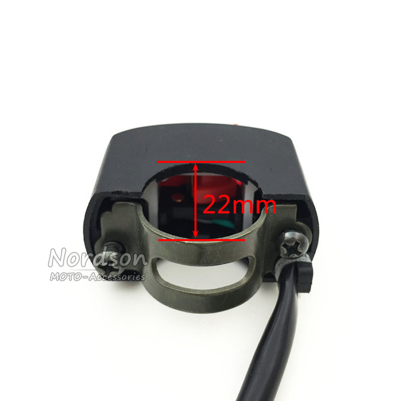 New Universal Handlebar Motorcycle Motorbike lamp Switch moto motocross scooter Accident Hazard ON/OFF Button Light Switch 6