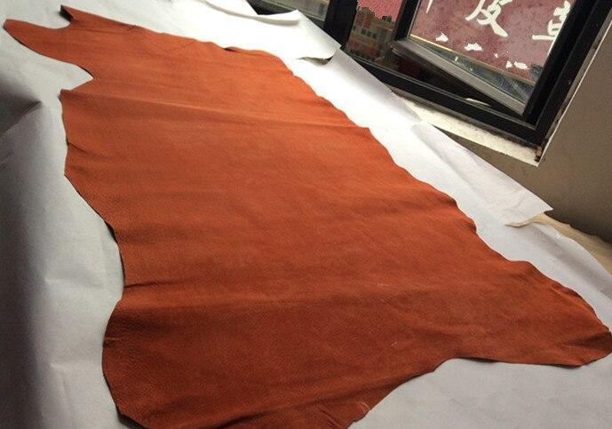 Orange Натуральная свиная спилок материал wholepiece