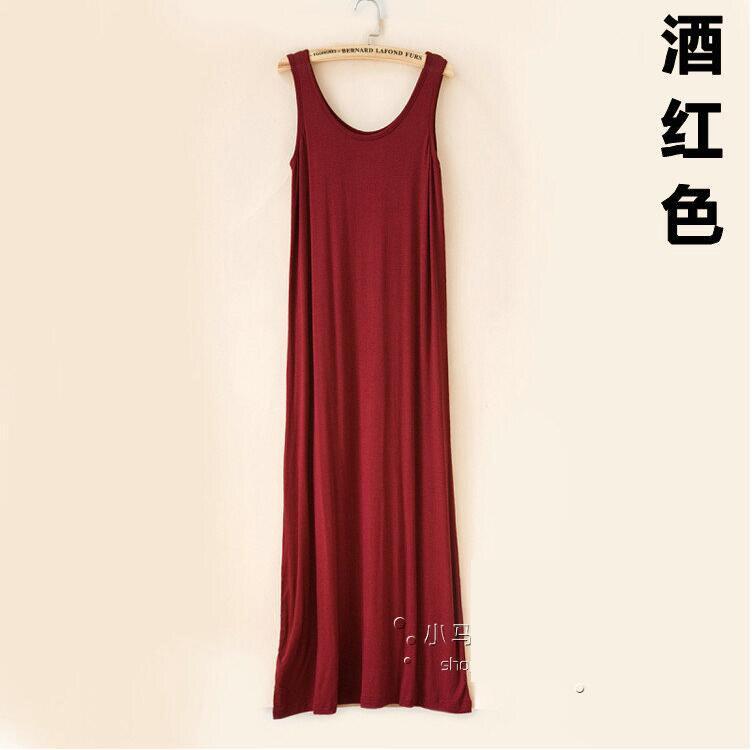 Long Cotton Tank Dress