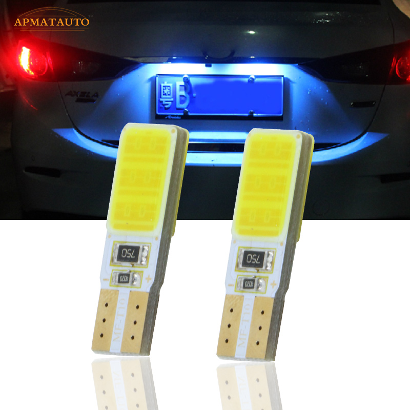 2x T10 W5W For SAMSUNG COB Chips License Number Plate Light LED Bulbs Lamp For Mazda 2 3 5 6 CX-5 deechooll 2pcs wedge light for mazda 2 3 5 6 mx5 rx8 cx7 626 gf gg ge gw canbus t10 57smd 6w led clearance xenon lighting bulbs