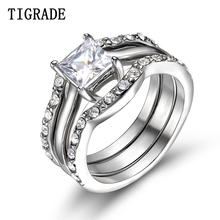 Fashion Silver Women Stainless Steel Shining Jewelry Vintage Rings For Women Anel Feminino Conjunto Aneis Anillos Lovers' Ring цена