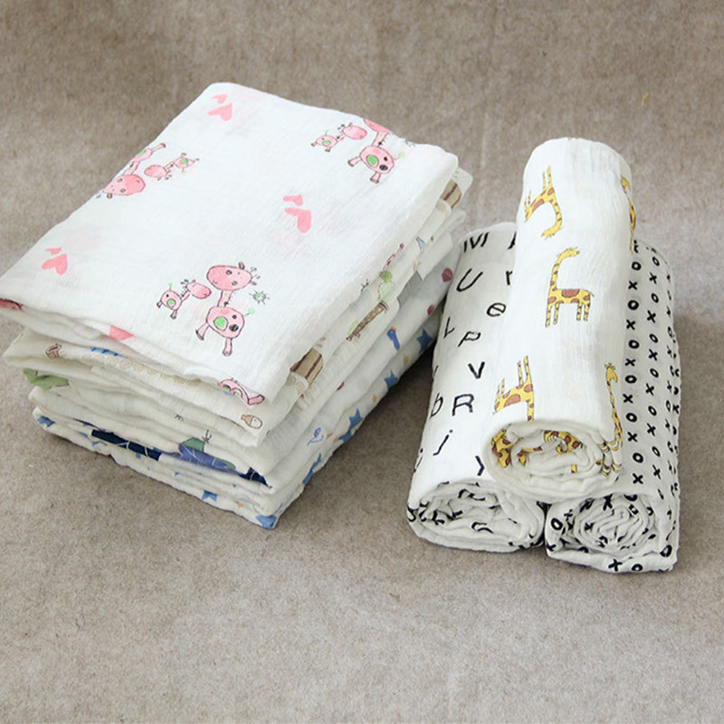 Karitree 1Pc Muslin 100% Cotton Baby Swaddles Soft Newborn Blankets Bath Gauze Infant Wrap Sleepsack Stroller Cover Play Mat