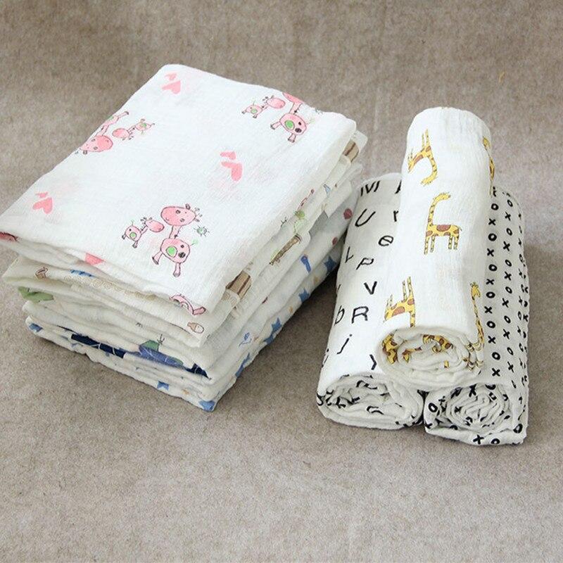 Karitree 1Pc Muslin 100% Cotton Baby Swaddles Soft Newborn Blankets Bath Gauze Infant Wrap Sleepsack Stroller Cover Play Mat