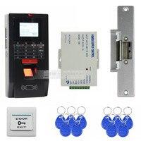 DIYSECUR Fingerprint Senha Leitor de Cartão de Identificação 125 KHz RFID Porta Teclado Sistema de Controle de Acesso Kit Greve de Bloqueio para o Escritório/casa