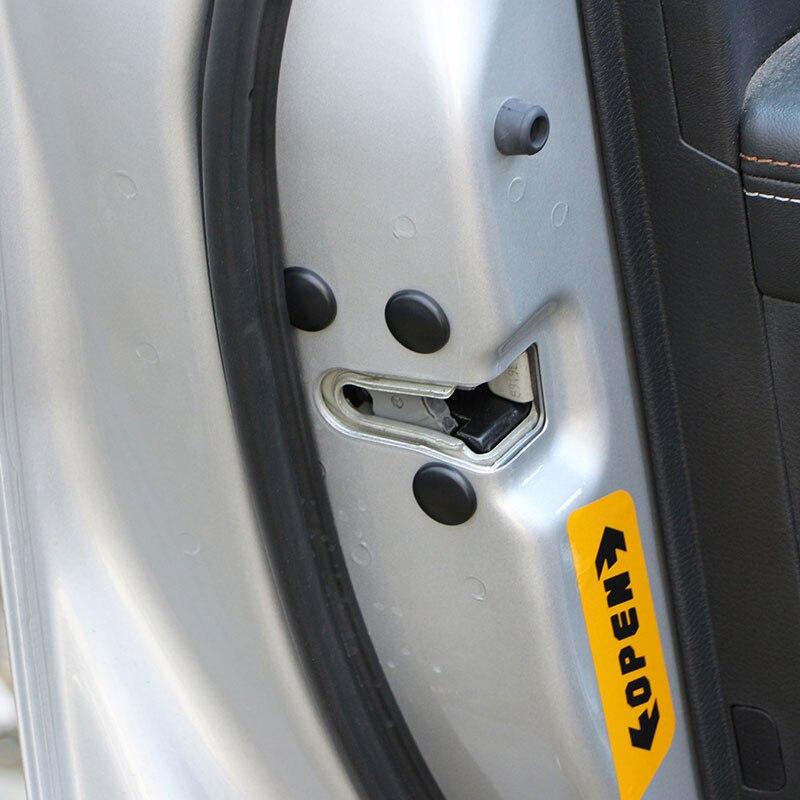 12 шт./компл. замок двери автомобиля винт наклейки защиты Водонепроницаемый двери чехол для hyundai Tucson 2015-2017 Ix35 Verna Solaris