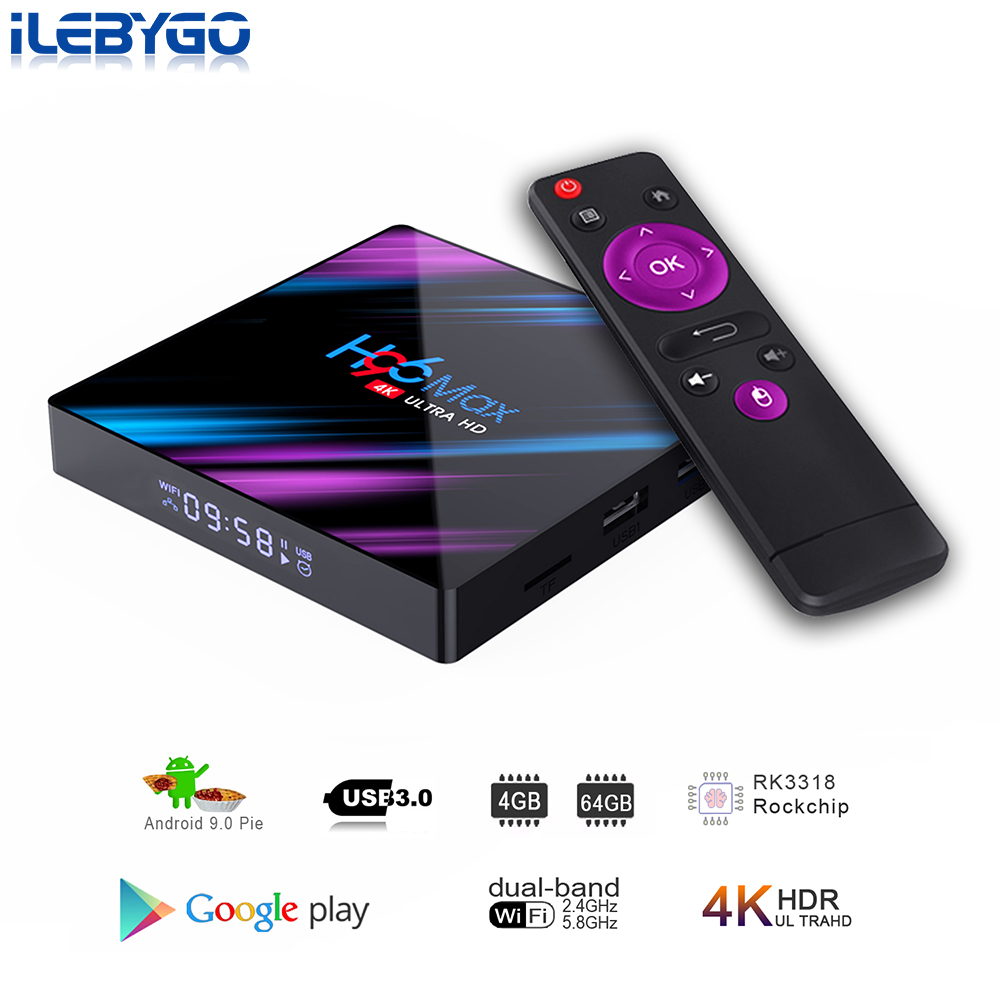 Android 9 0 TV Box Rockchip RK3318 4GB 64GB Smart TV box H 265 4K 60fps Google Play Store Netflix Youtube 4G 32G Set top box