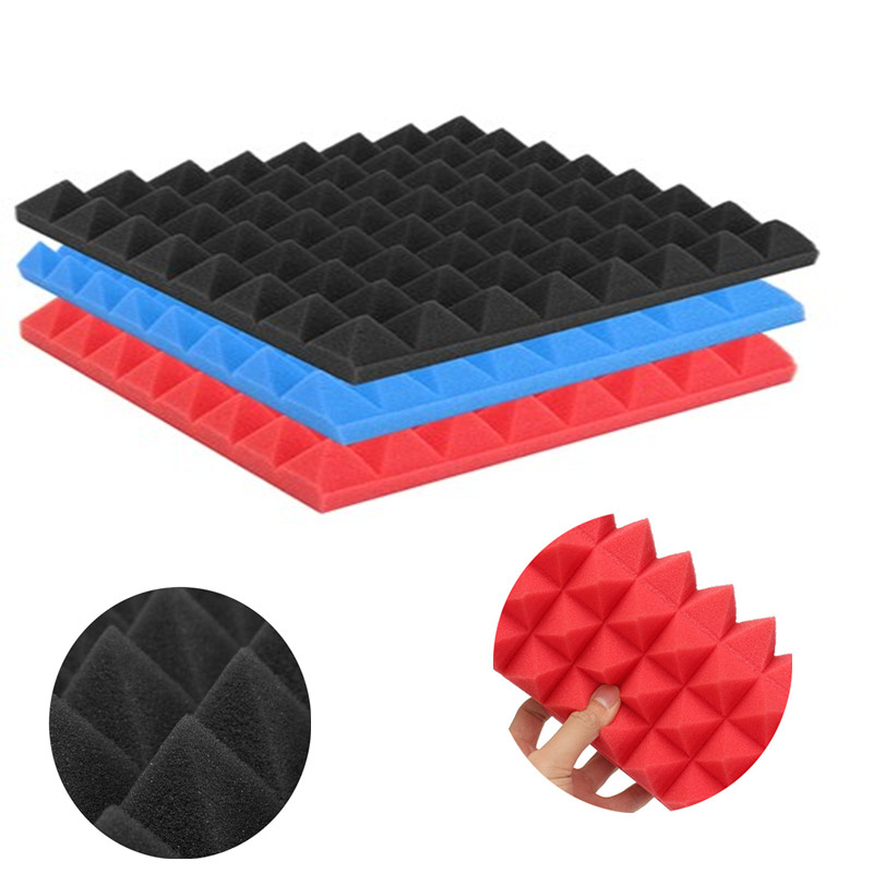 1pcs 25x25x4cm Pyramid Soundproofing Foam Acoustic sound-absorbing Foam Sound Treatment Absorption Wedge Tiles Pack Studio/Music