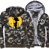 Dragon Ball Z Jacket Thick Army Ggreen Camouflage Fleece Hoodies Men Son Goku Anime 2017 Brand