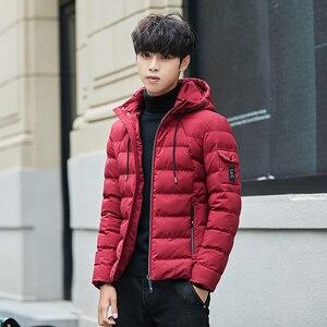 Image 4 - Veste et manteau dhiver à capuche pour homme, vêtements chauds et rembourré, à la mode, Parka pour hommes, 2018, 4XL, décontracté