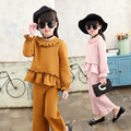 2017 New Brand Girl Set Spring&Autumn Children Baby Girl New Fashion Clothes kids T-shirt +shorts 2 pcs suit Hot Sale