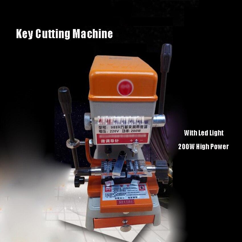988 H 220 V 120 W Clé Copie de Coupe Machine Avec LED lumière Pour Serrure De Porte Clé Duplication Copie Faisant La Machine Serrurier Outils