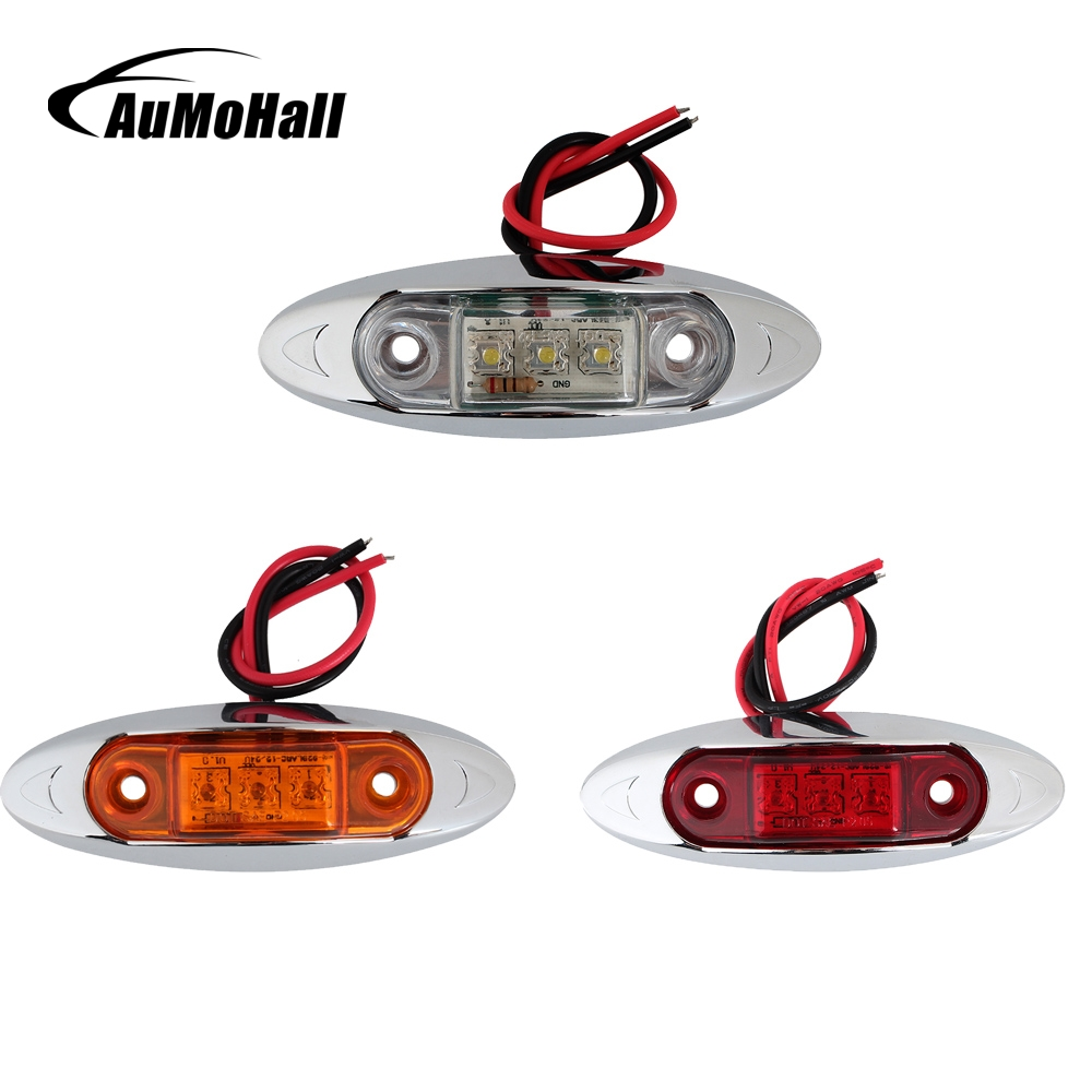Aumohall 2x Led Side Marker Light Clearance Lamp 12v Car Truck Leds On For Cars And Trucks Trailer External Lights