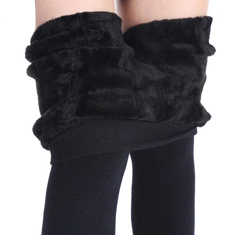 Nessaj Autumn Winter Fashion Explosion Models Plus Thick Velvet Warm Seamlessly Integrated Inverted Cashmere Leggings Warm Pants