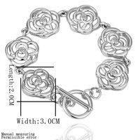 Wholesale Free Shipping Fashion Jewelry Rhodium Gold White Diamond Rose Carven Flower Gold Jewelry Gold Strand