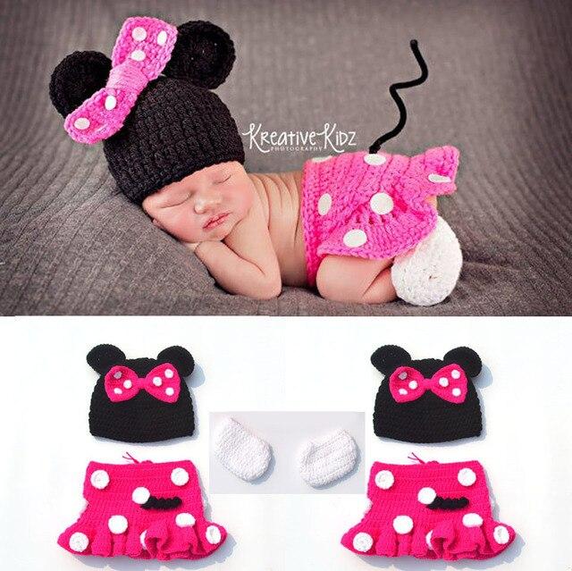 Heißer Verkauf Häkeln Infant Neugeborenen Baby Fotografie Requisiten Gestrickte Baby Jungen Mädchen Cartoon Kostüm Bebe Foto Requisiten