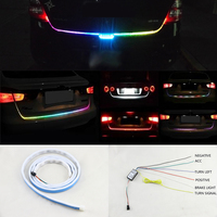 120cm 150cm RGB Car Auto Tailgate Multi Function Led Strip Lighting Rear Brake Turn Signal DRL