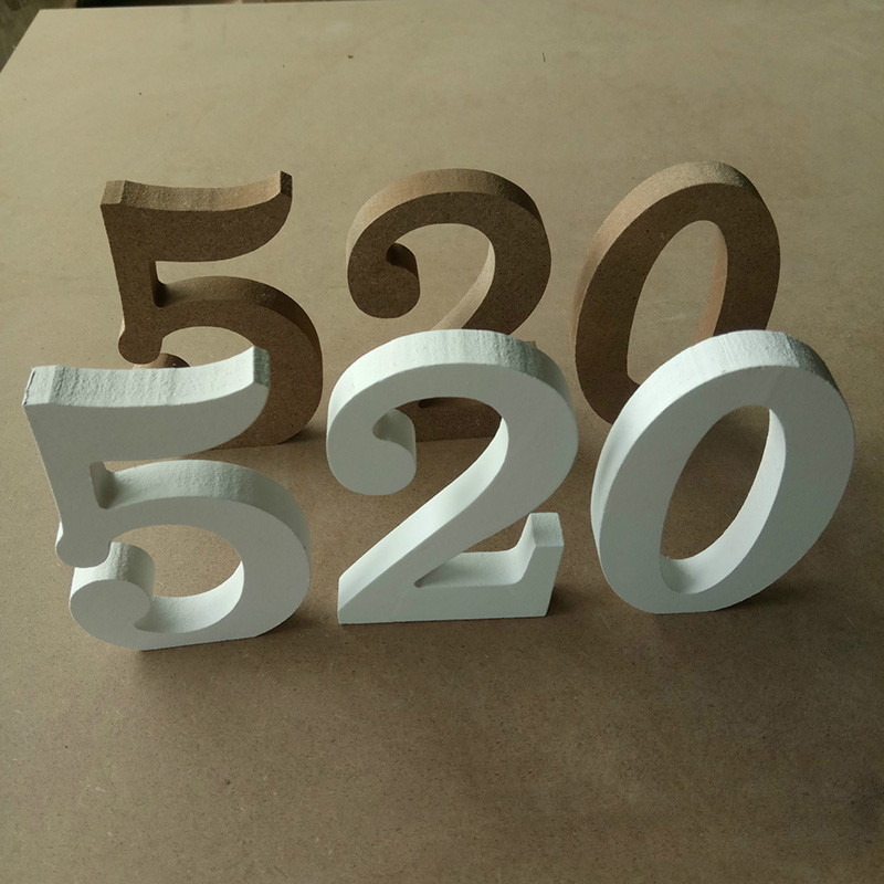 1pcs White Wooden Number 0 9 Bridal Wedding Birthday Party