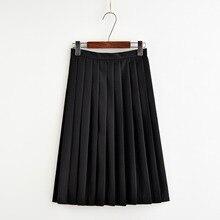 Japonés 2018 nueva marca niñas faldas plisadas colegialas uniformes alta  cintura plisado sólido falda harajuku hembra 0522-47 8a8e83b48c58