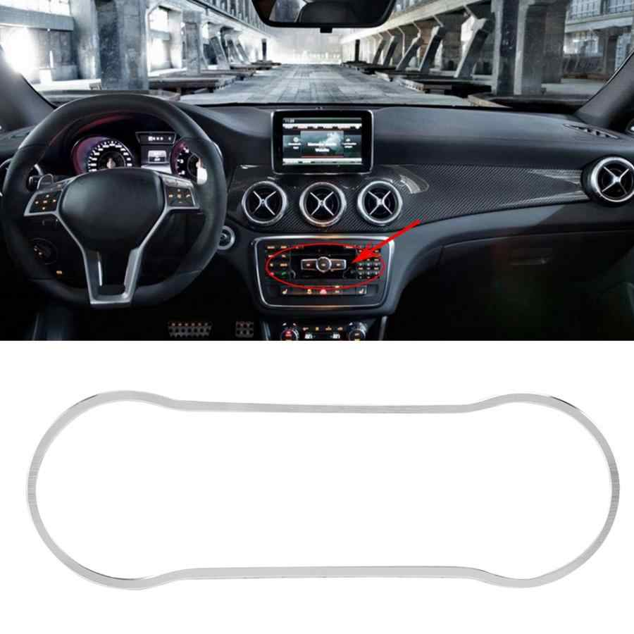 Car Air Conditioning Knob Decoration Frame Trim Cover Sticker Fit for Mercedes Benz CLA GLA A Class B Aluminum Alloy car styling