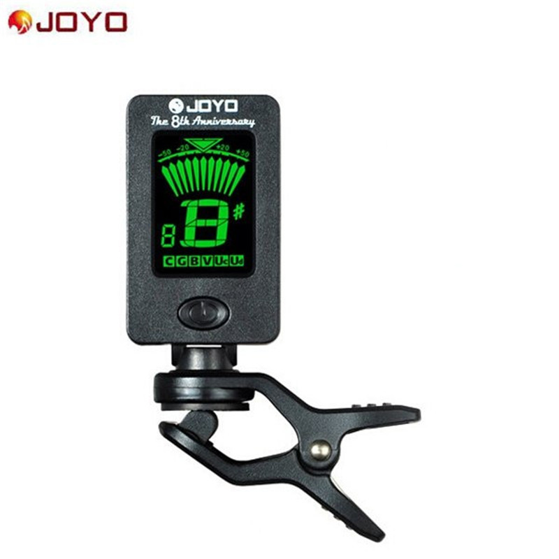 JOYO JT-01 Guitar Bass Tuner Mini LCD Clip-on Rotatable Guitar Tuners with Battery for Violin Ukulele Musical Instruments Parts