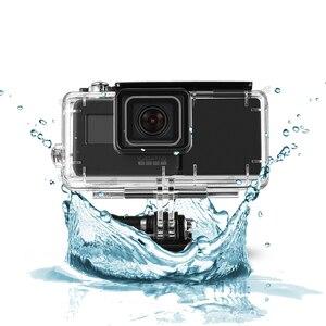 Image 5 - FeoconT الموسعة بطارية ل GoPro 5 الذهاب برو 6 للماء واقية حالة الغوص الإسكان شل مع الجانب قوة البنك