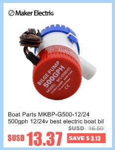 1100/GPH Pompe de cale 2,5/Amp submersible Marine universel du trou de fixation 12/V DC