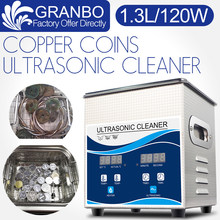 Ultrasonic Coin Cleaner 1.3L 120W Cleaning Machine for Old Coins Roman Coins metal detecting copper Gold coins